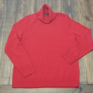 Talbots Red Cashmere Turtleneck Sweater Size XL